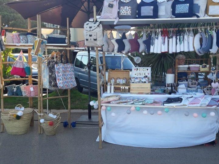 Splendide marché artisanal au Lavandou